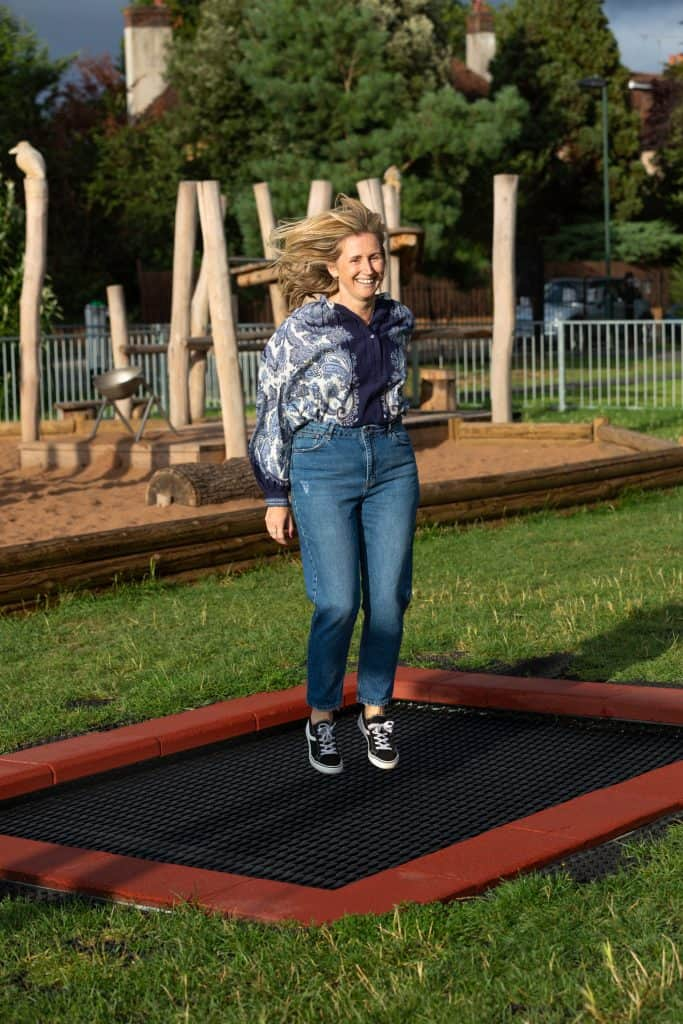 Trampoline Incontinence is a thing.